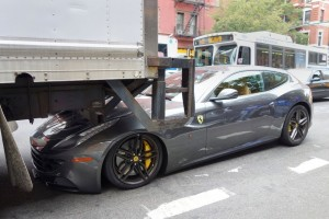 Backing Collision involving a $295,000 Ferrari!