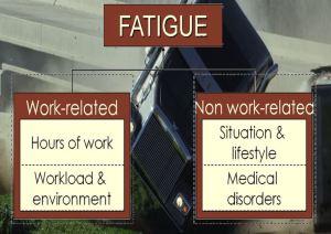 Healthy trucker. Fatigue
