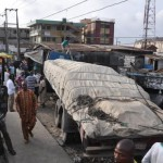 CEMENT-CARRYING TRAILER CRASHES INTO SHOPS AT MUSHIN (PICTURES)