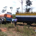 NSCDC INTERCEPTS TRUCKLOADS OF STOLEN CRUDE OIL AND ARMOURED NITEL CABLES, PARADE 10 SUSPECTS IN IMO STATE