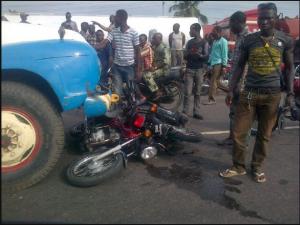 truck-okada accident scene