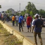 BUS DRIVERS PROTEST IN ILORIN AGAINST ACTIVITIES OF TRAFFIC MANAGEMENT AGENCY