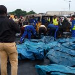 11 LIVES LOST AS TYRE BLOWOUT CAUSES COMMERCIAL BUS TO SUMMERSAULT AND EXPLODE IN LAGOS
