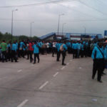 COMMUTERS GROAN AS BRT DRIVERS PROTEST OVER SALARY MATTERS