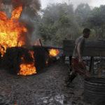 NAVY ARRESTS MARINE VESSEL, DESTROYS ILLEGAL REFINERIES IN DELTA, AKWA IBOM
