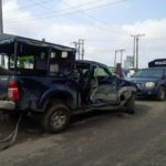 TRAIN COLLIDES WITH POLICE HILUX VAN IN PORT HARCOURT