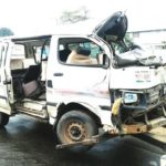 TRUCK CRUSHES LAGOS COMMERCIAL BUS, FIVE INJURED