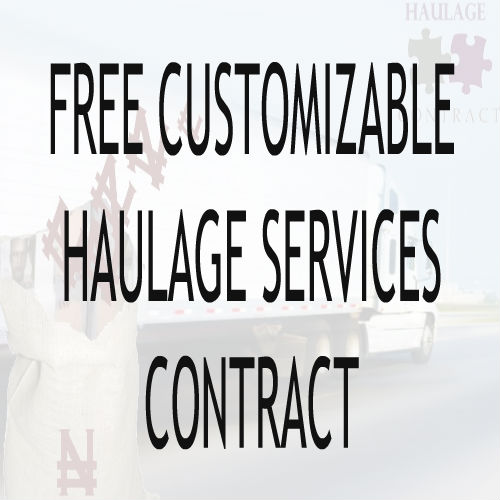 Sample Haulage Contract Image