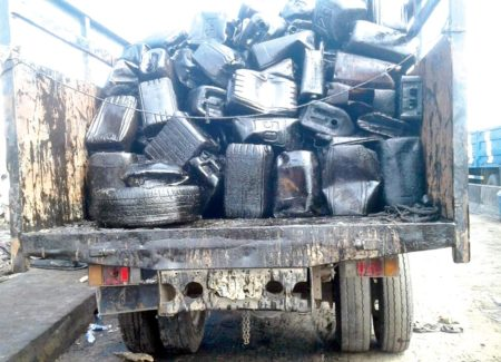 Image result for NSCDC intercepts vehicles with adulterated diesel, Kerosene