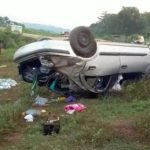CATHOLIC PRIEST AND 4 OTHERS SURVIVE GHASTLY ACCIDENT UNHURT ALONG PORT HARCOURT-ENUGU EXPRESSWAY (PICTURES)