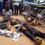 MOTORBIKE ROBBER SHOT DEAD AND OTHERS ARRESTED AS THEY TRIED FLEEING A BANK (PHOTOS)