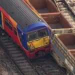 TRAIN DERAILS AT LONDON WATERLOO STATION