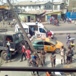 MAYHEM IN MUSHIN AS LAGESC TRUCK KILLS APPRENTICE, PASSERBY AFTER TASK FORCE RAID (PICTURES)